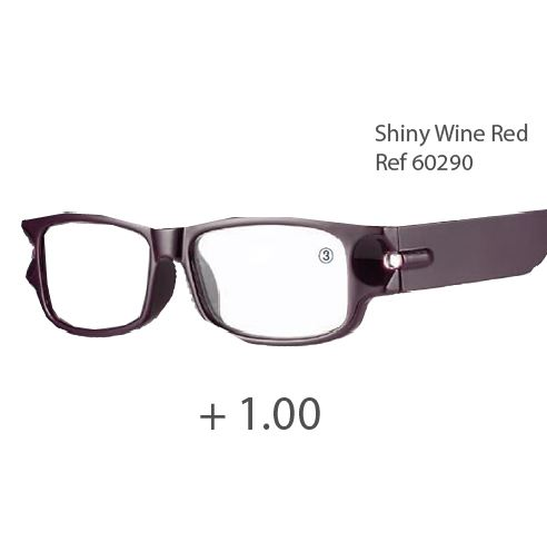 0260290 - Óculos Leitura Night Vision Bordo +1,00 Mod 60290 FLAG 9 - c8646b9d44