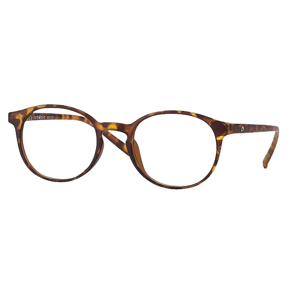 0260858N - Óculos Leitura OPOR Redondo Tartarugato +3,00 Mod 60858N FLAG 9 - Contém 1 Peça