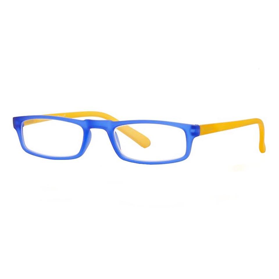 0261036 - Óculos Leitura Soft Touch Azul/Amarelo +2,50 Mod 61036 FLAG 9 - Contém 1 Peça