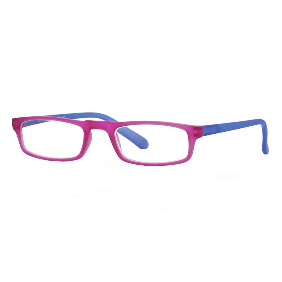 0261048 - Óculos Leitura Soft Touch Rosa/Azul +3,00 Mod 61048 FLAG 9 - Contém 1 Peça