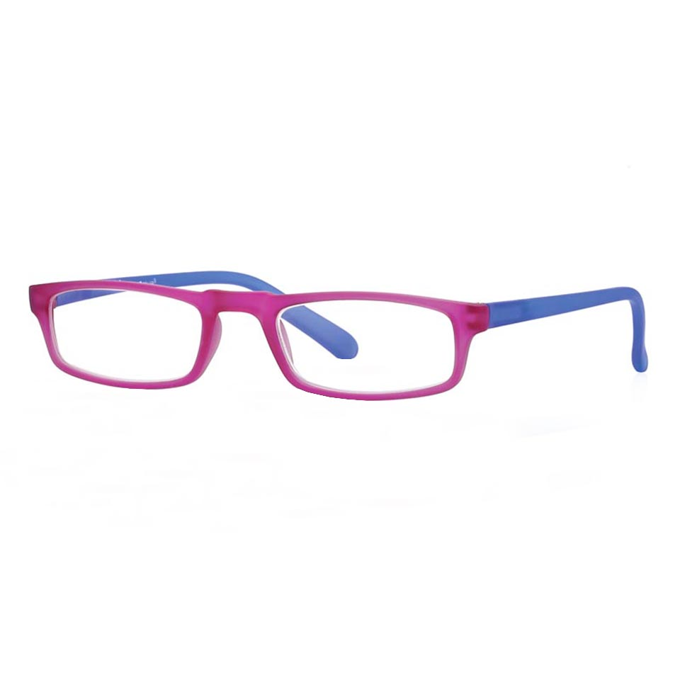 0261049 - Óculos Leitura Soft Touch Rosa/Azul +3,50 Mod 61049 FLAG 9 - Contém 1 Peça