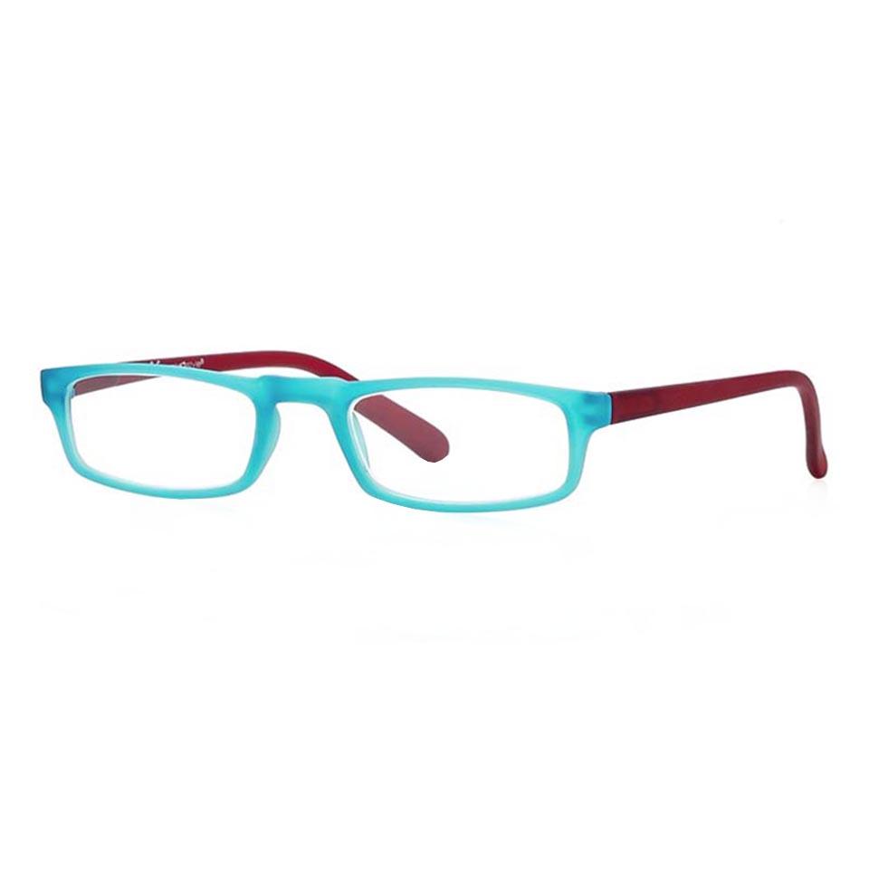 0261054 - Óculos Leitura Soft Touch Azul/Bordo +2,00 Mod 61054 FLAG X  -Contém 1 Peça