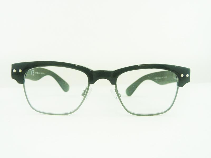 0261362 - Óculos Leitura Retro Plastico/Metal Preto +1,50 Mod 61362 FLAG 9 - Contém 1 Peça