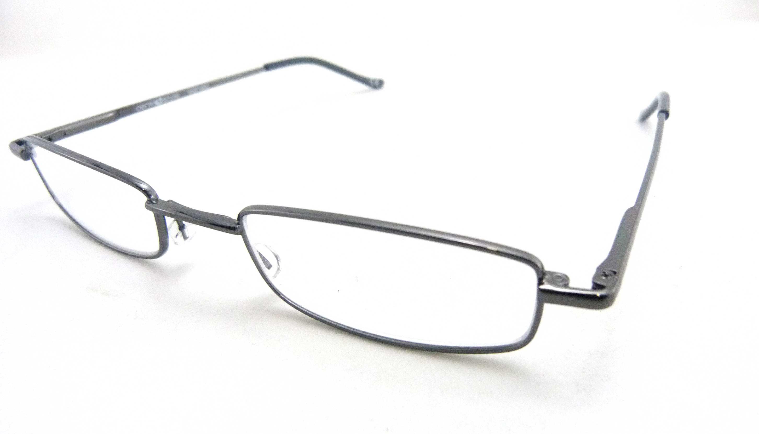 Óculos Leitura Flex AT +2,50 GunMetal Mod 63506 FLAG E