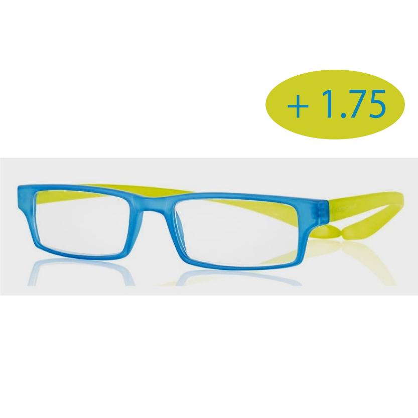 0269503 - Óculos Leitura Koala Rainbow Azul/Verde +1,75 Mod 69503 FLAG 9 - Contém 1 Peça