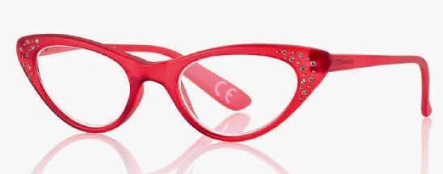 0269898 - Óculos Leitura Gatinha Strass Vermelho +3,00 Mod 69898 FLAG 9  -Contém 1 Peça