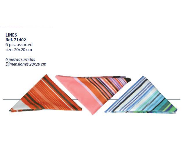 0271402 - Microfibra Artu Pocket Lines Mod 71402  -Contém 6 Peças