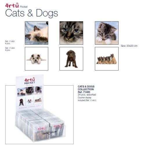 0271482 - Microfibra Artu Pocket Cat Mod 71482  -Contém 6 Peças