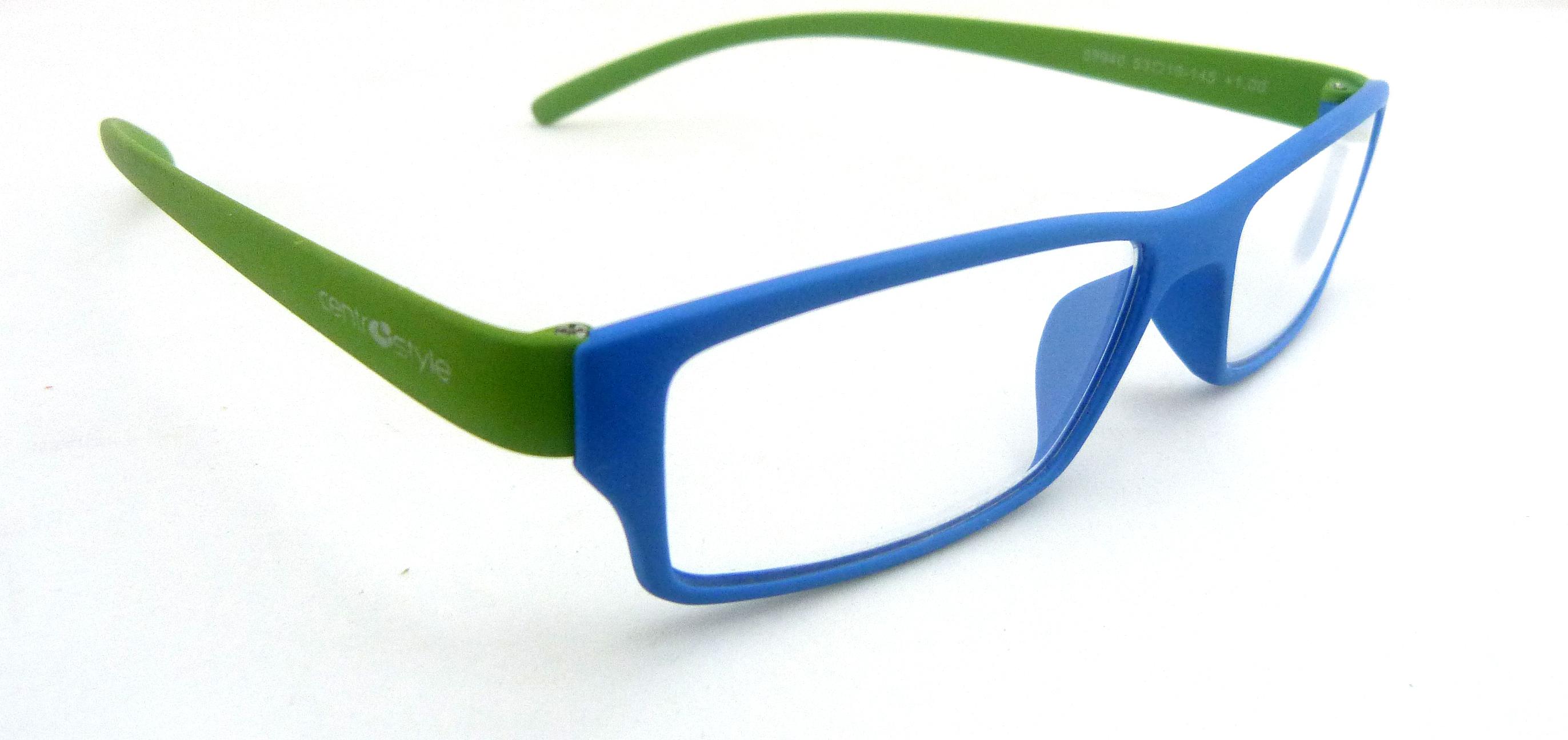 Óculos Leitura Rubber Colour Eco Azul/Verde +1,00 Mod 79940