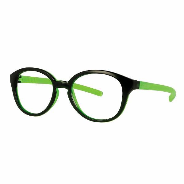 02F000245030000 - Armação Inf Active Flex (0) 45x16 Verde Esc/Verde Neon Mod F000245030000 FLAG 9 - Contém 1 Peça