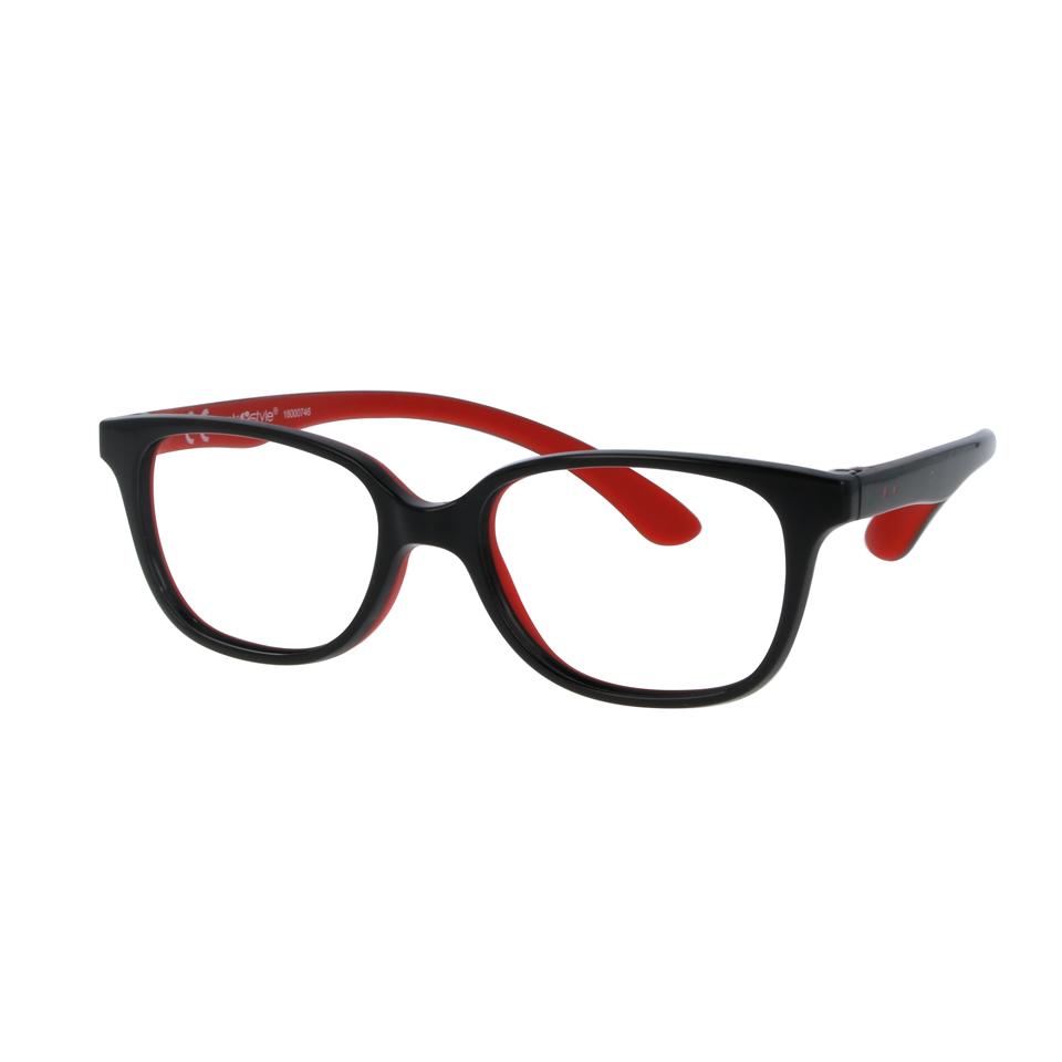 02F008346093000 - Armação Active Rubber 46x16 Preto/Vermelho Mod F008346093000 - Contém 1 Peça