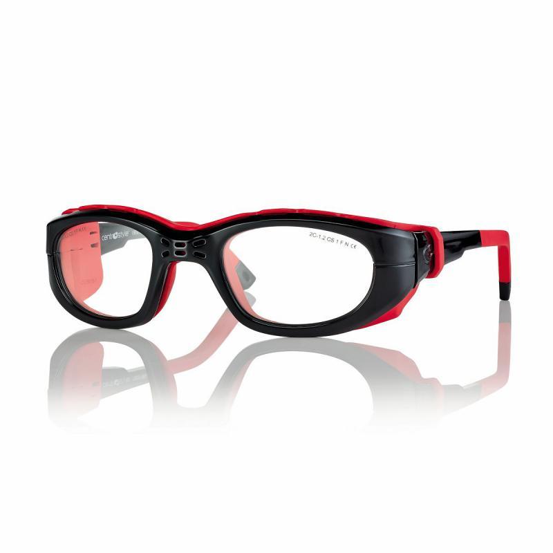 02F025749092000-Óculos Proteção Esporte Banda Elástica e Haste 49x23 Preto/Verm Mod 025747 FLAG E - Contém 1 Peça  - SOB ENCOMENDA