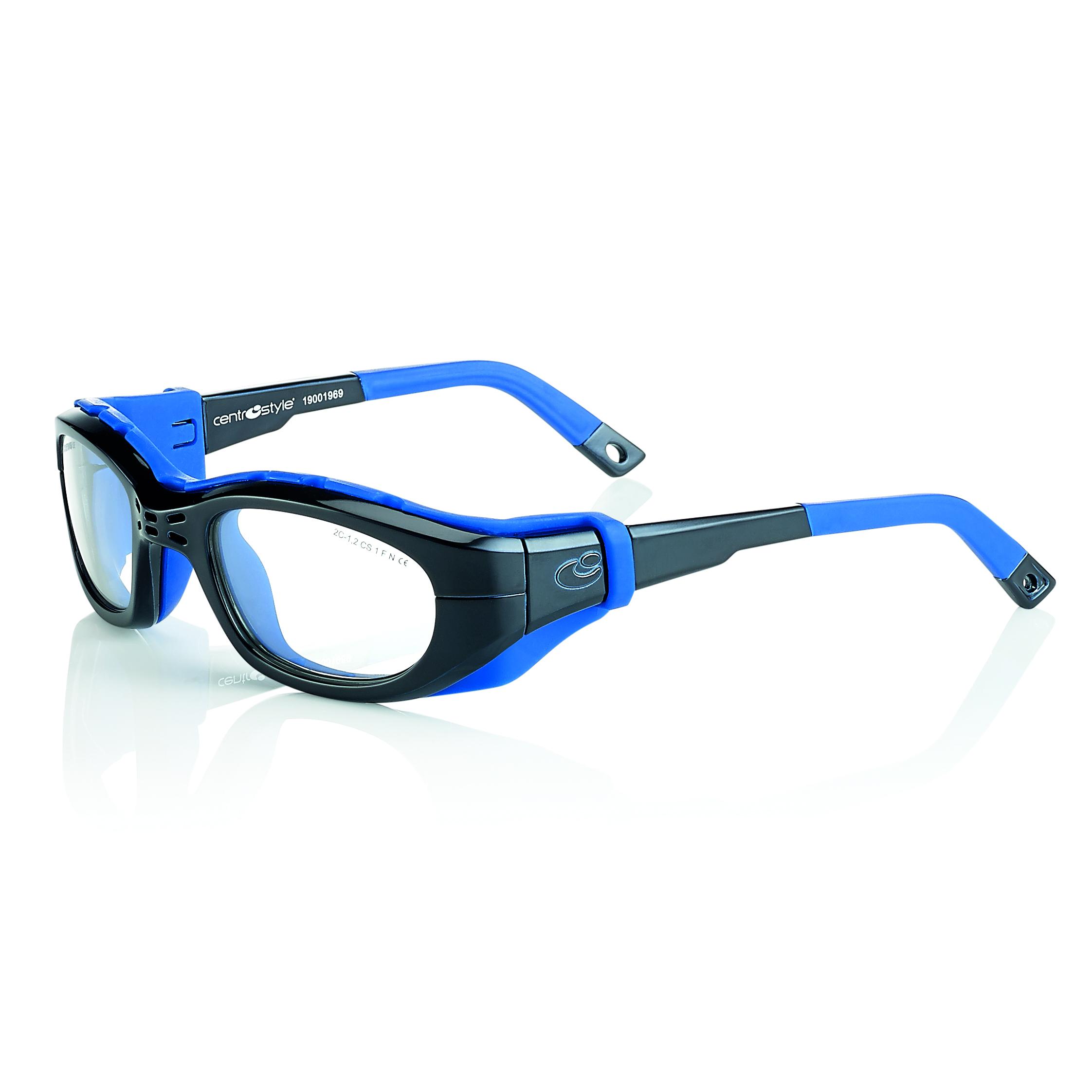 02F025751242000-Óculos Proteção Esporte Banda Elástica e Haste 51x23 Preto/Azul Mod 025757 FLAG E - Contém 1 Peça  - SOB ENCOMENDA
