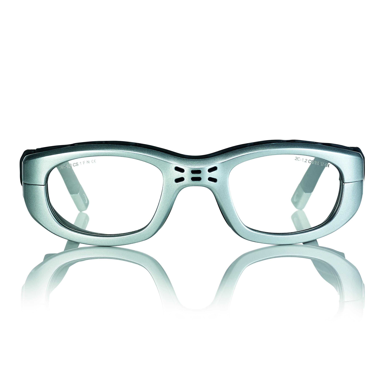 02F025751288000-Óculos Proteção Esporte Banda Elástica e Haste 51x23 Prata/PretoMod 025757 FLAG E - Contém 1 Peça  - ENTREGA IMEDIATA