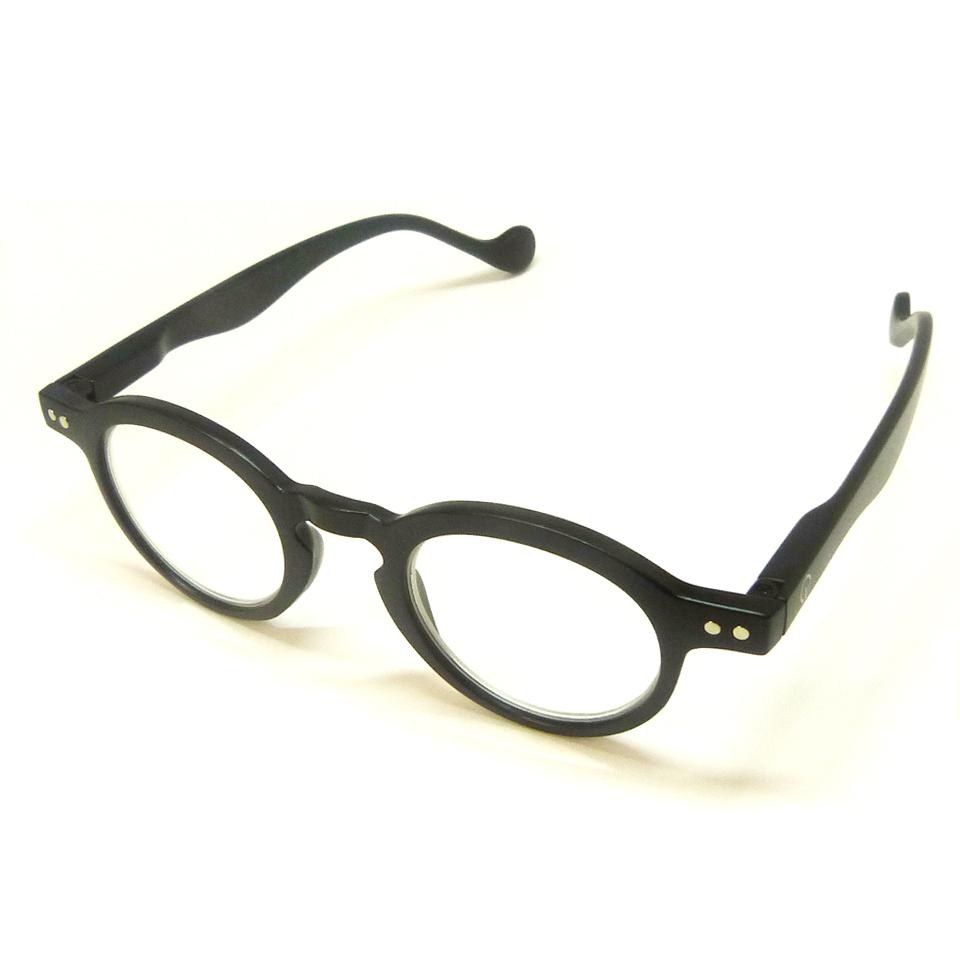 0860014 - Óculos Leitura Redondo Preto +2,50 Mod AR5880A - Contém 1 Peça
