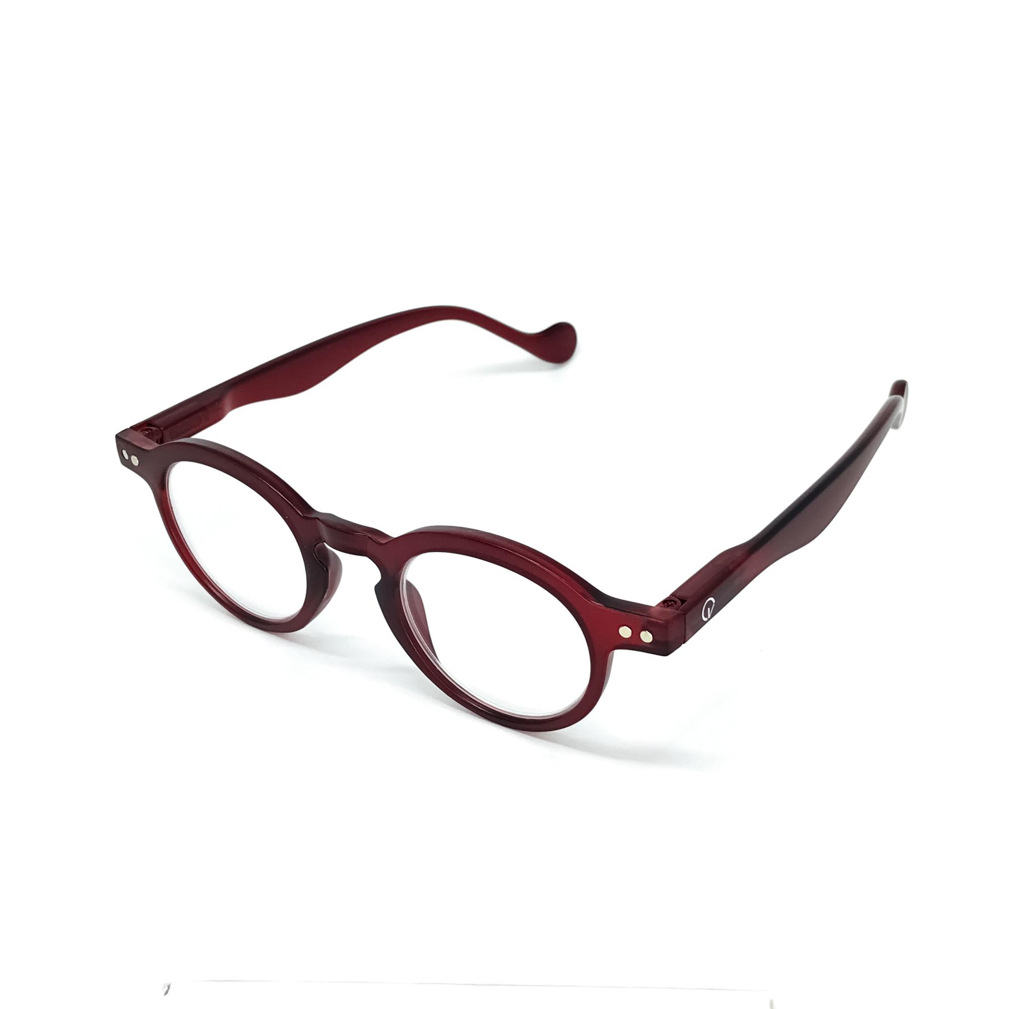 0860034-Óculos Leitura Redondo Vermelho +2,50 - Contém 1 Peça  - ENTREGA IMEDIATA