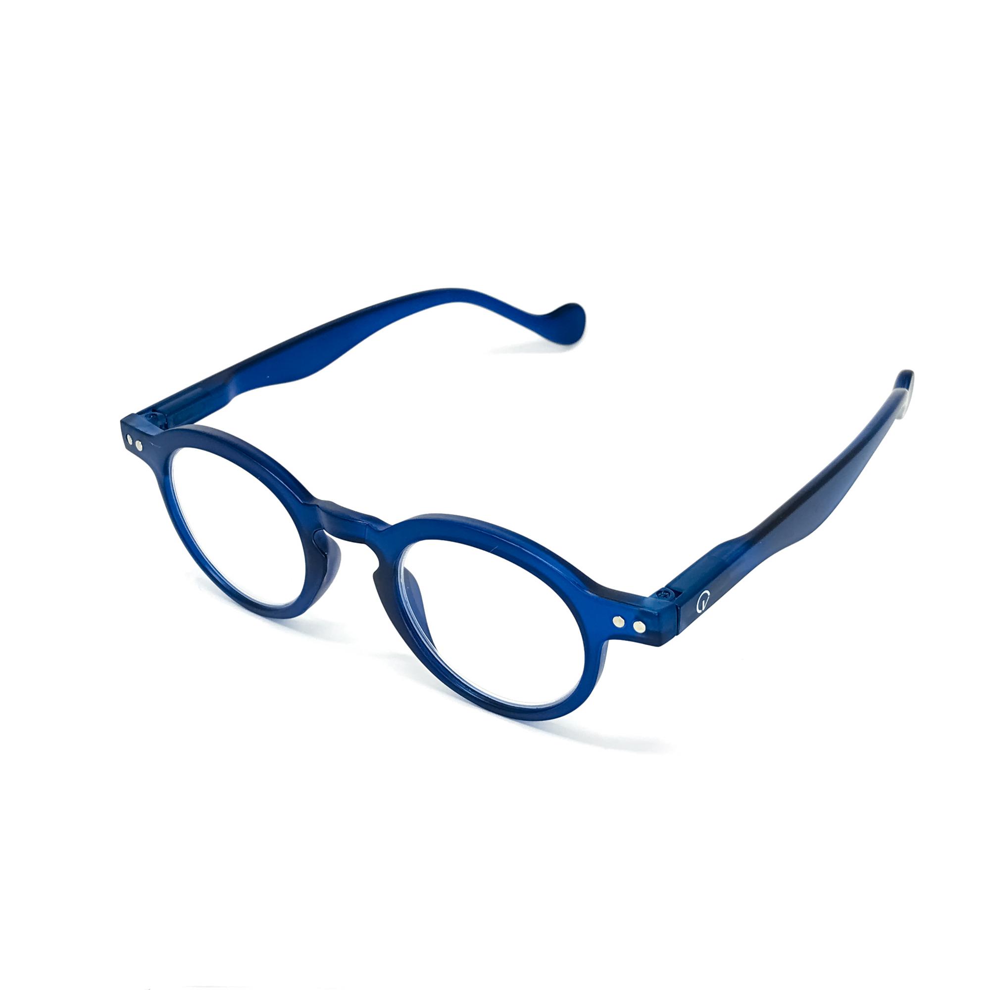 0860051-Óculos Leitura Redondo Azul +1,00 - Contém 1 Peça  - ENTREGA IMEDIATA