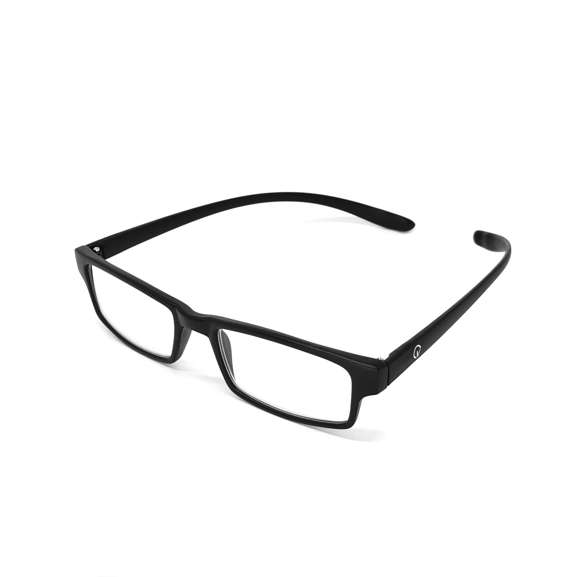 0869014 - Óculos Leitura Retangular Preto +2,50 - Contém 1 Peça