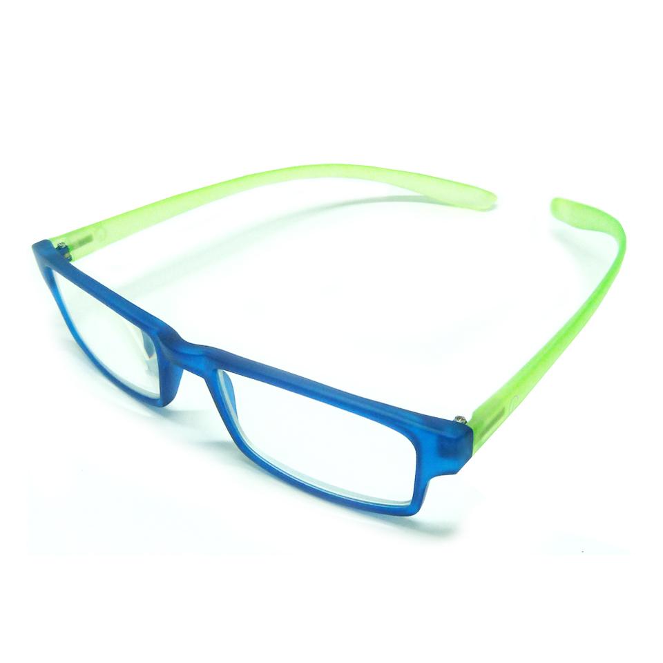 0869053 - Óculos Leitura Retangular Azu/Verde +2,00 Mod AR5087 - Contém 1 Peça