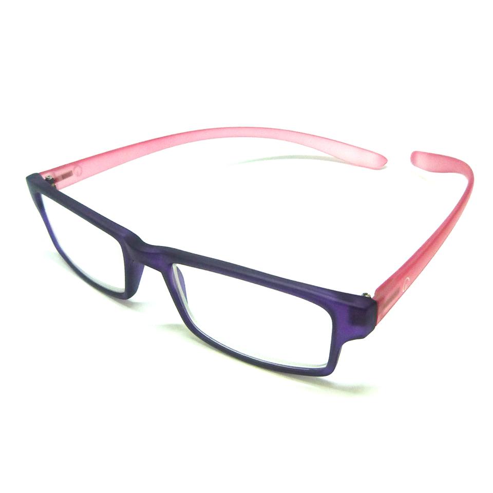 0869061 - Óculos Leitura Retangular Roxo/Rosa +1,00 Mod AR5087 - Contém 1 Peça