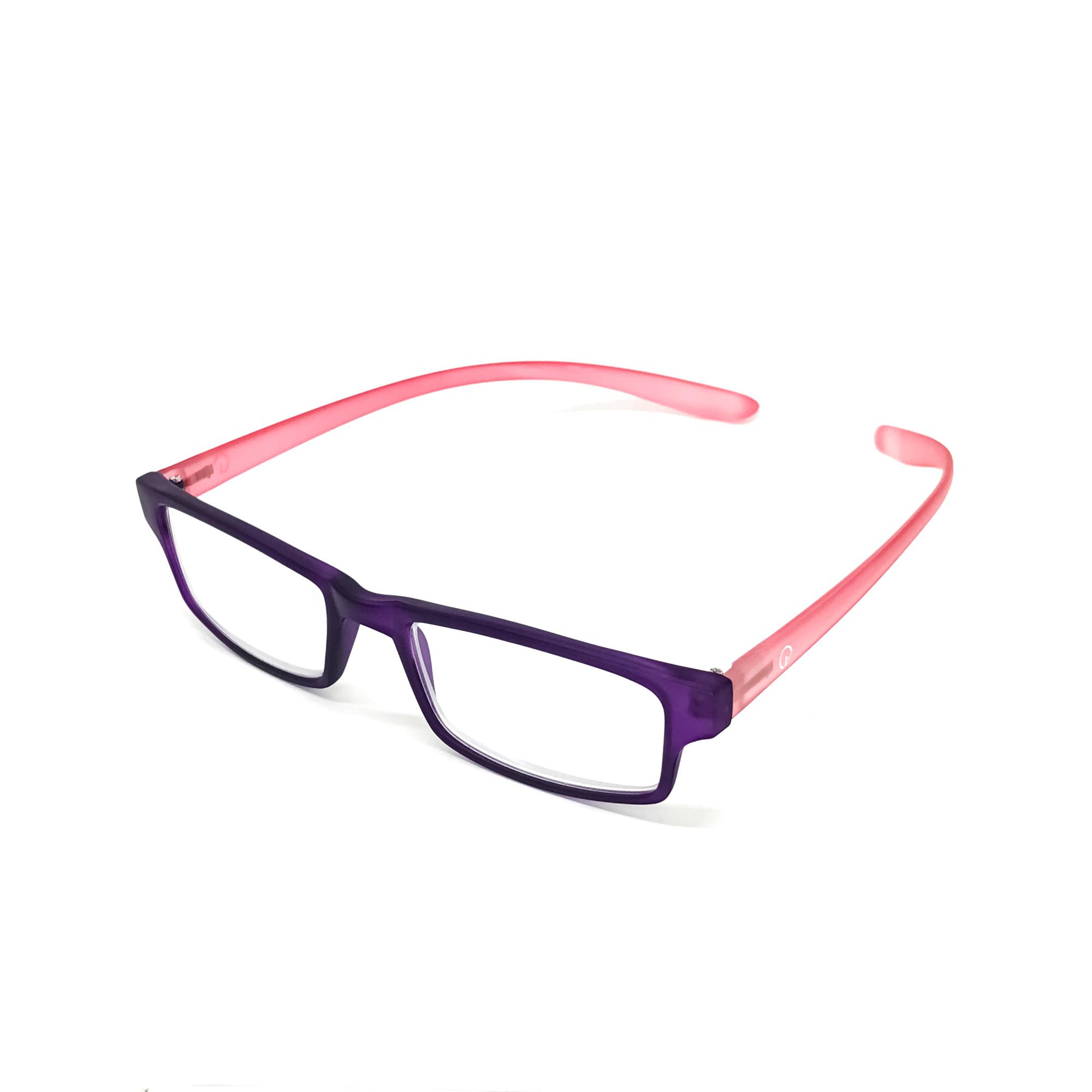 0869066 - Óculos Leitura Retangular Roxo/Rosa +3,50 Mod AR5087 - Contém 1 Peça