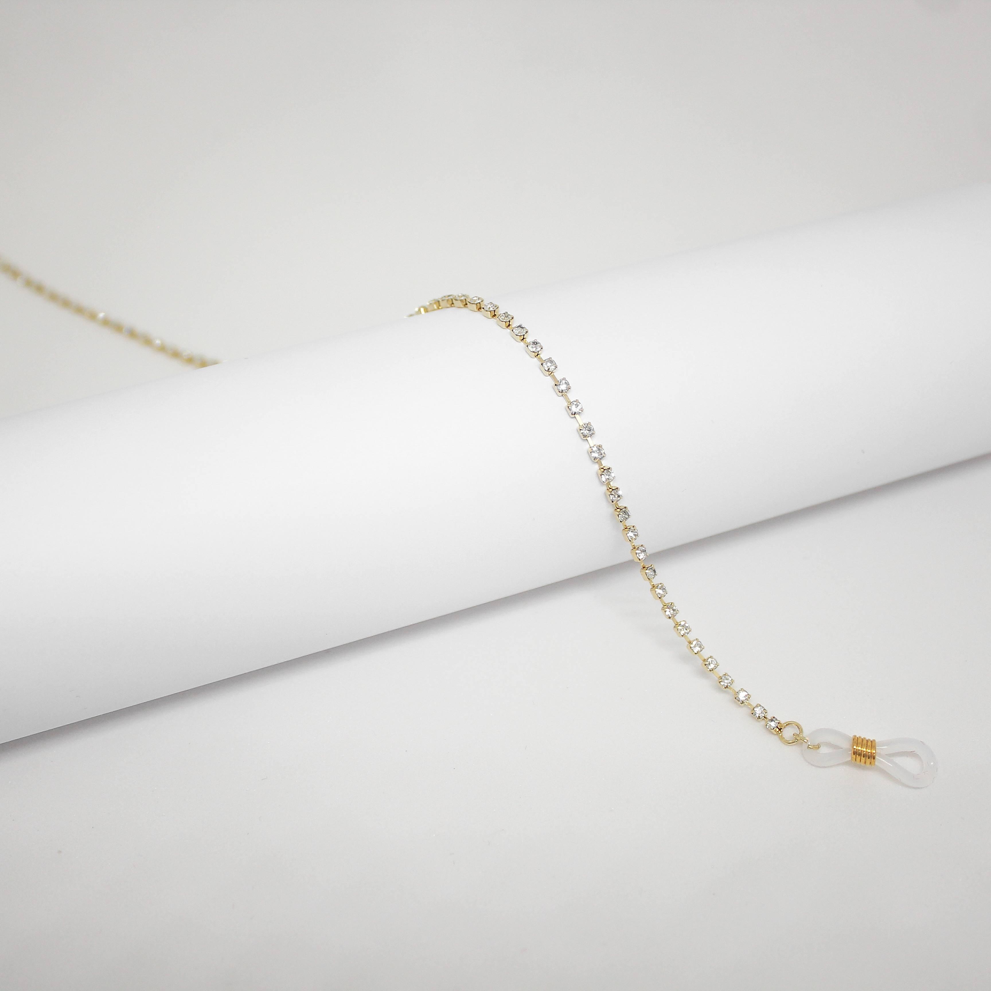 16176411 - Corrente Strass Ouro - Contém 3 Peças