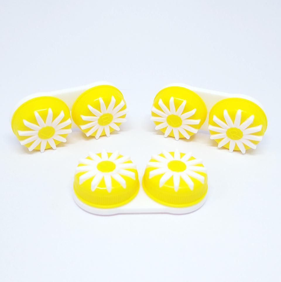 2204007-Acessório-LC Estojo Flor Amarela FLAG 9 - Contém 12 Peças  - ENTREGA IMEDIATA   PRODUTO EM PROMOÇÃO