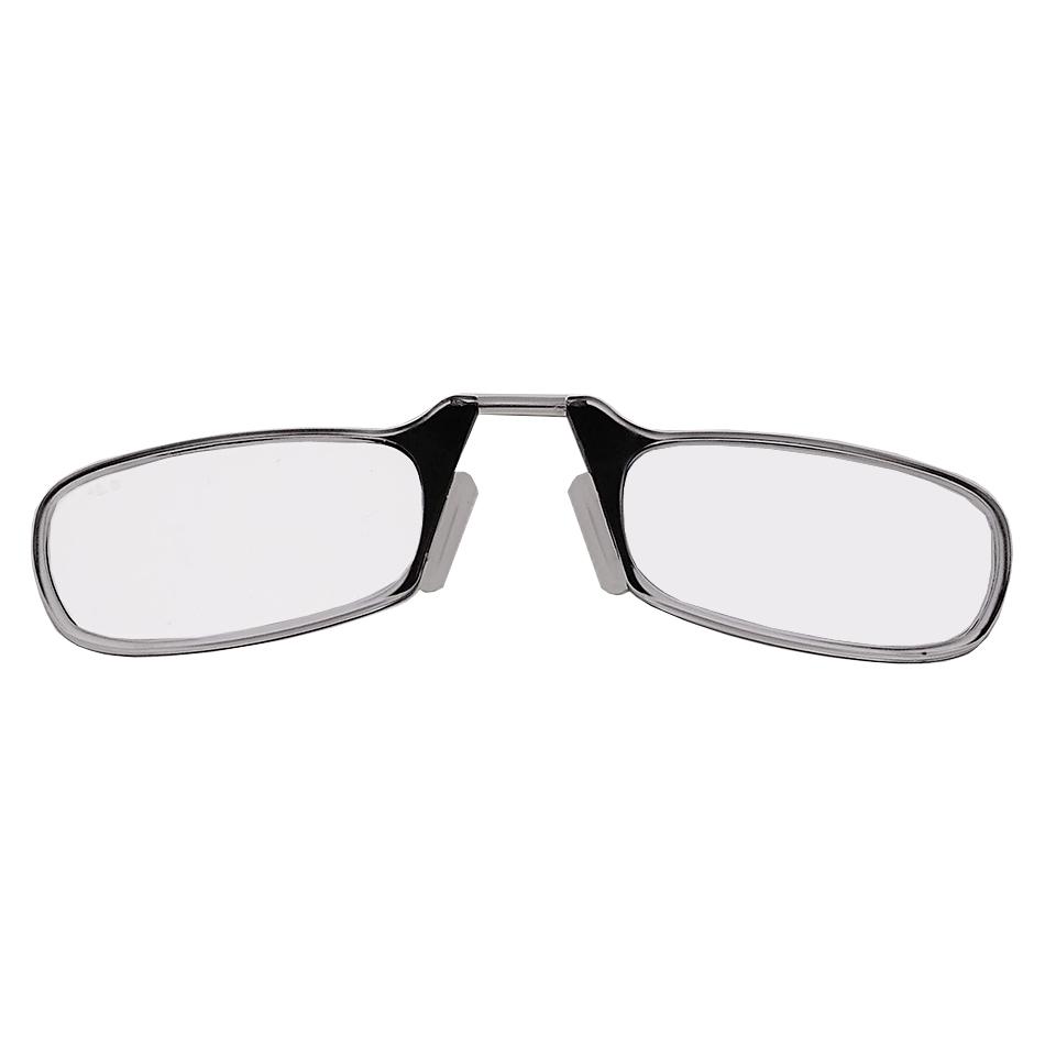 2604002-Óculos Leitura Sem Hastes Preto +2,50 - Contém 1 Peça  - ENTREGA IMEDIATA
