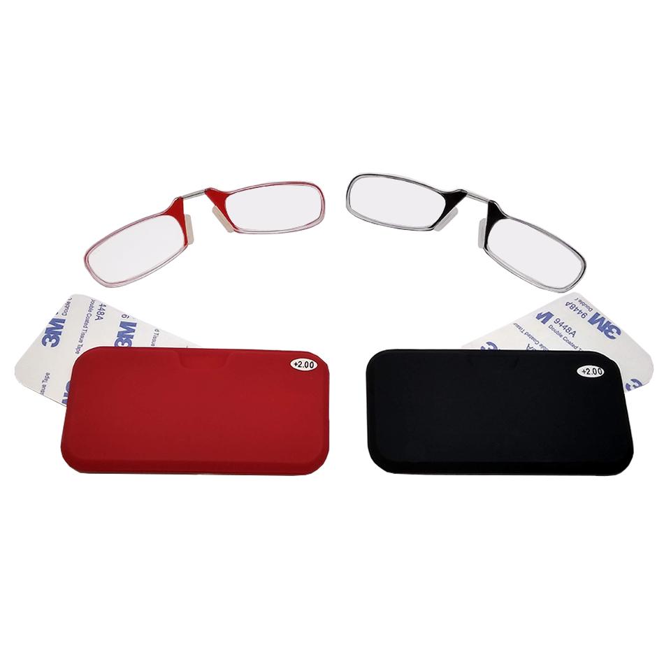 2604005 - Óculos Leitura Sem Hastes Vermelho +2,50 - Contém 1 Peça