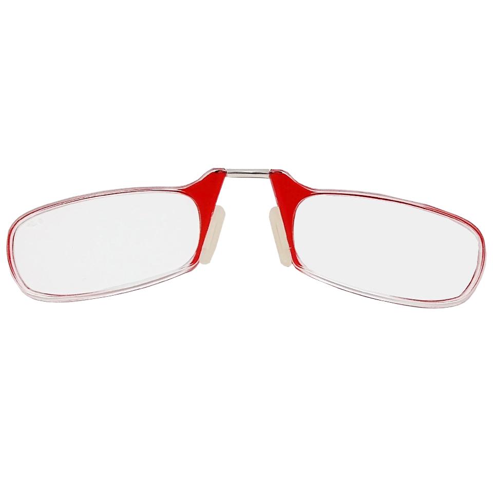 2604006 - Óculos Leitura Sem Hastes Vermelho +3,00 - Contém 1 Peça
