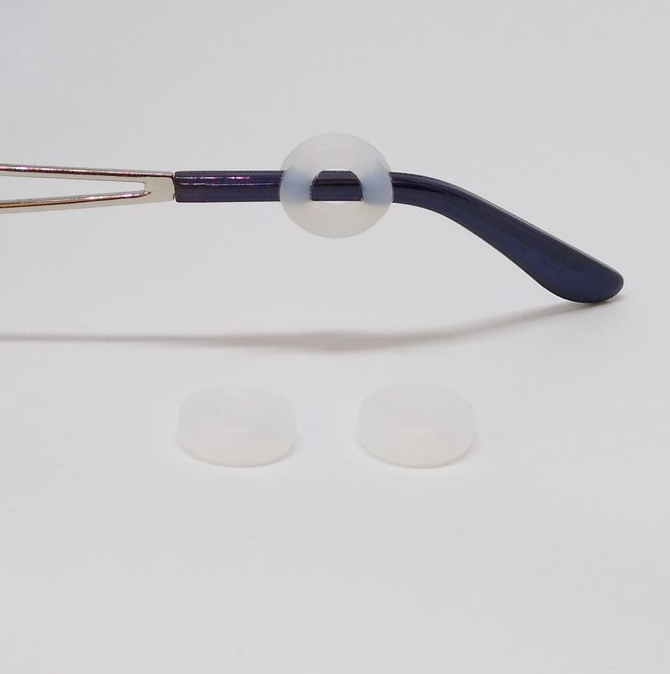2605002 - Stopper Silicone Redondo Transparente S-22F - Contém 10 Pares