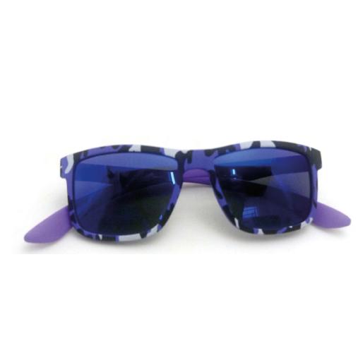 0215112 - Óculos-Solar CS Koala Camuflado 49x17 Roxo Mod 15112 FLAG 9  -Contém 1 Peça