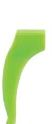 0201384 - Stopper 02 Silicone Médio Verde Mod 1384  -Contém 6 Peças
